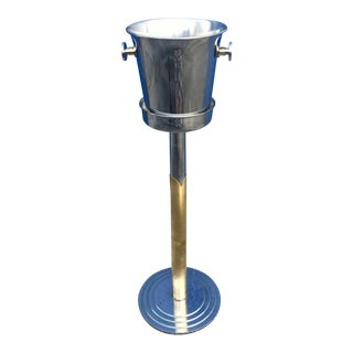 WMF Chrome & Brass Wine Bucket & Stand