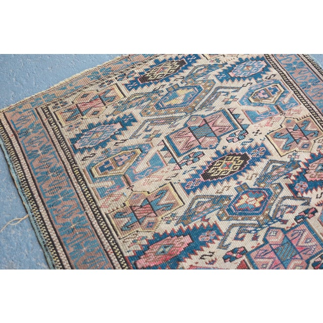 "Antique Caucasian Kuba Rug -- 2'11"" x 3'7"" - Image 3 of 7"