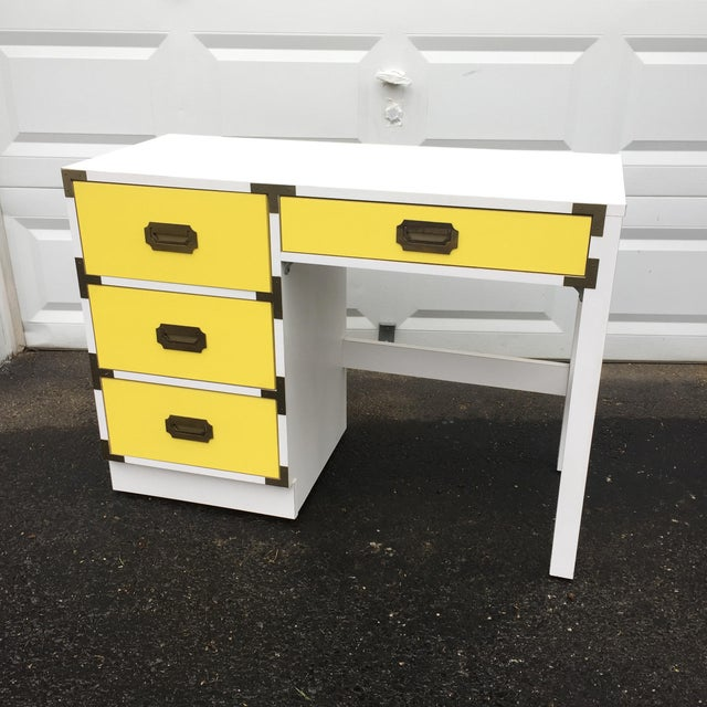 Mid-Century Modern Campaign Desk - Image 3 of 11