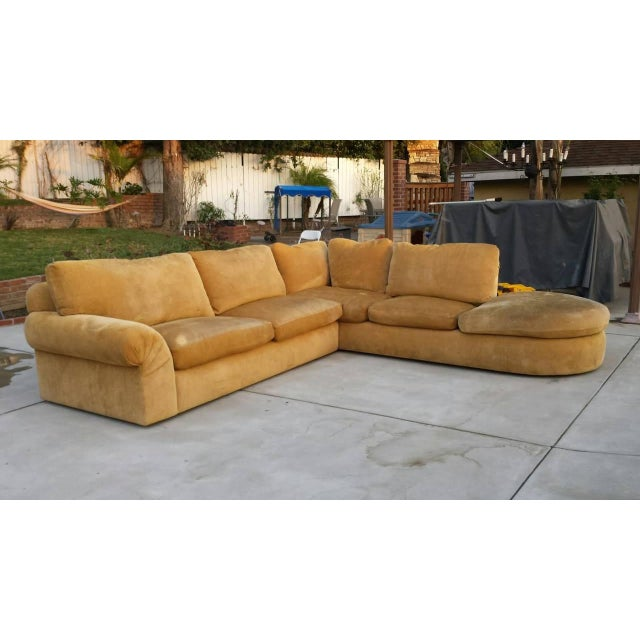 A. Rudin Mid-Century Yellow Sectional Sofa - Image 2 of 7