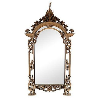 French Colonial Indonesian Teak Mirror