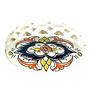 Handpainted Moroccan Ceramic Soap Dish