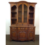 Image of French Provincial-Style Oak Hutch