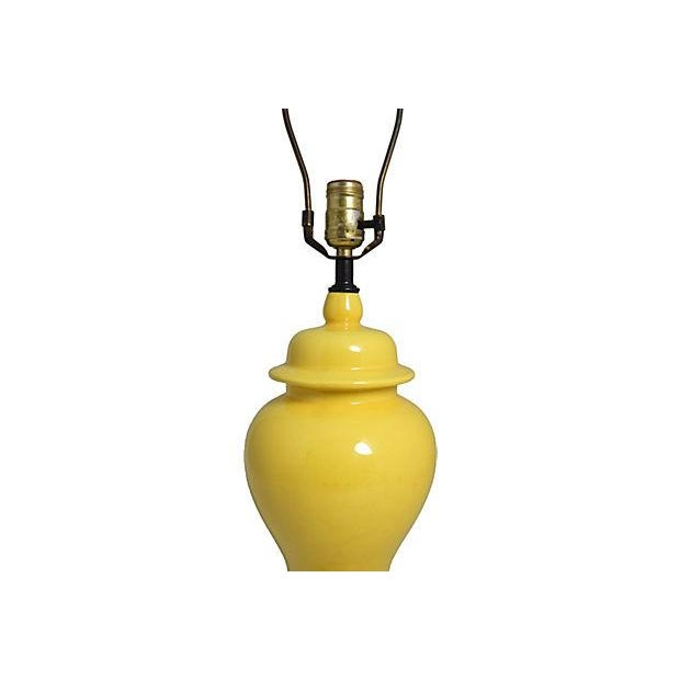 Yellow Ginger Jar Table Lamp - Image 4 of 7