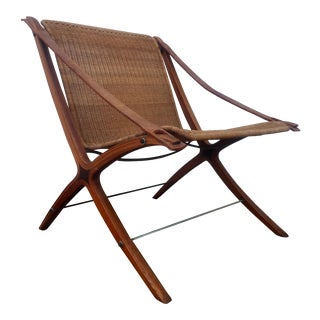 Hvidt & Molgaard X Chair Mid-Century Sling Chair
