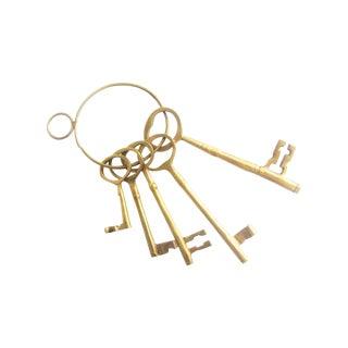 Vintage Brass Keys - Set of 5