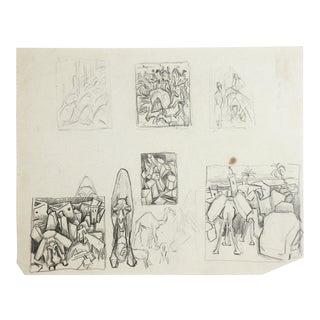 Camel Pencil Studies by George Baer