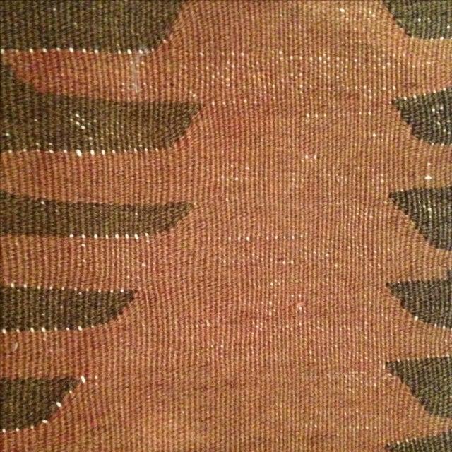 Vintage Brown Kilim Pillow - Image 4 of 5