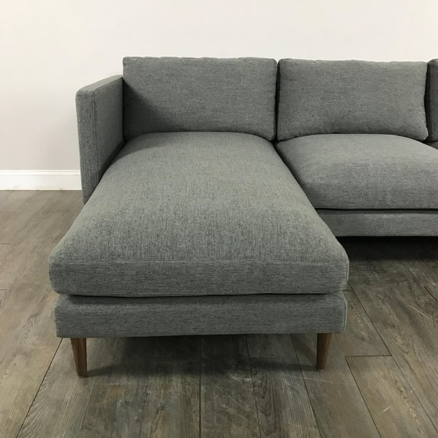 Mid Century Grey Sofa: Mid-Century Modern Gray Sectional Sofa