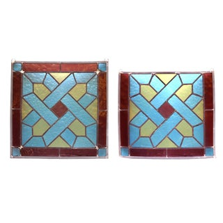 Stained Glass Panels- A Pair