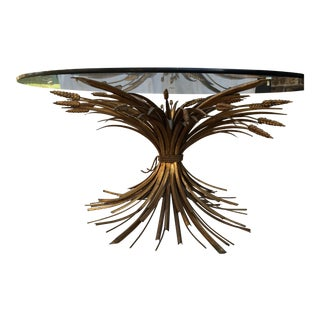 """Gilt """"Sheaf of Wheat"""" Cocktail Table"""