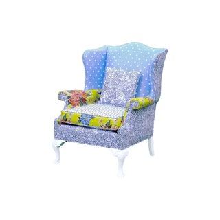 Lavender Patchwork Angelique Wingback Chair