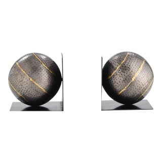 Arteriors Gauge Sphere Bookends - A Pair