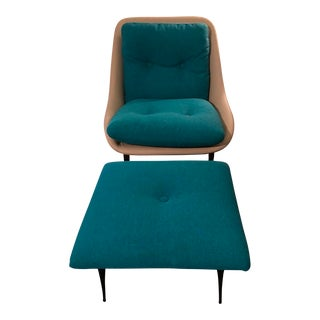 Marco Corti Fency Lounge Chair and Ottoman