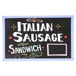 Italian Sausage Sandwich Sign
