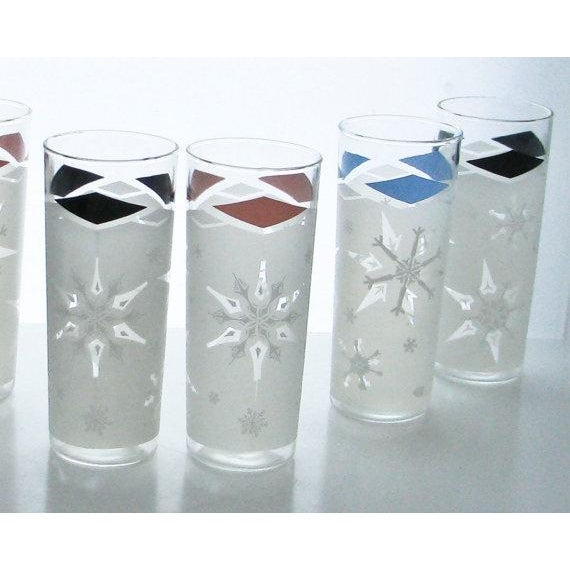 Mid-Century Snowflake Drinking Glasses - 6 - Image 5 of 6