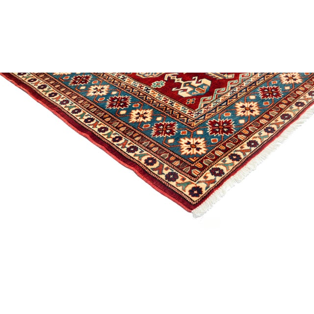 """New Traditional Hand Knotted Area Rug - 5'3"""" x 6'7"""" - Image 2 of 3"""