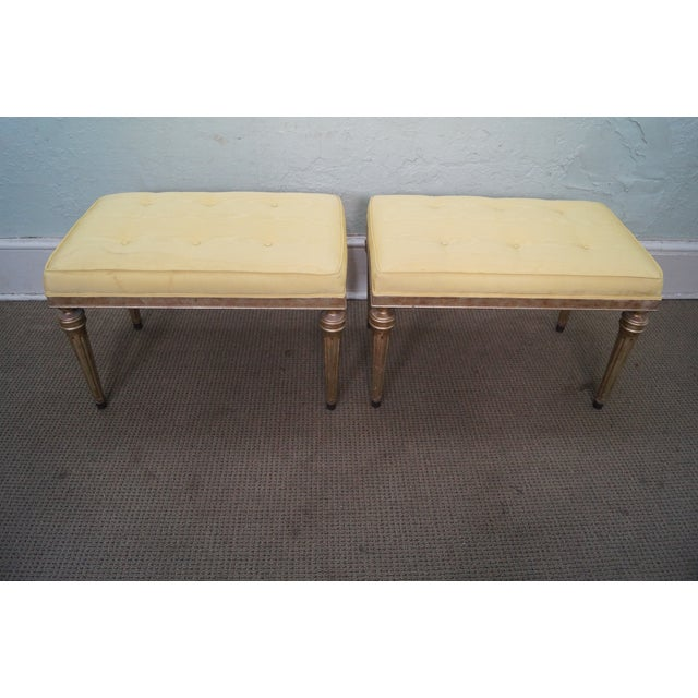 Vintage Custom Silver Gilt Regency Benches - Pair - Image 8 of 9