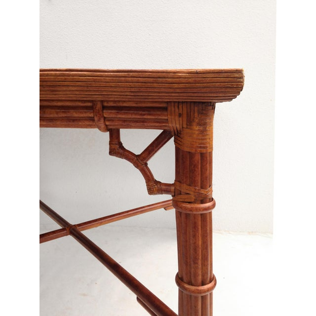 Image of Faux Bamboo Dining Card Table