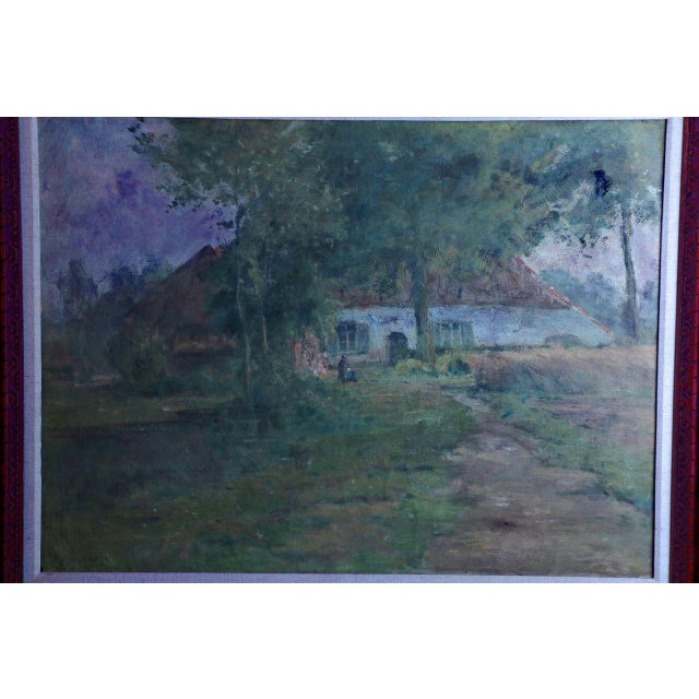 Lake Cottage Painting by Léon Riket - Image 8 of 9