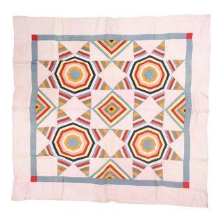 Bright Geometric Handmade Quilt