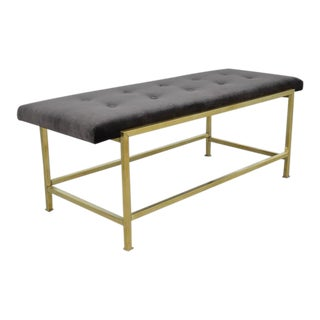 Edward Wormley Brass Bench for Dunbar