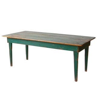 Antique Green Wooden Table