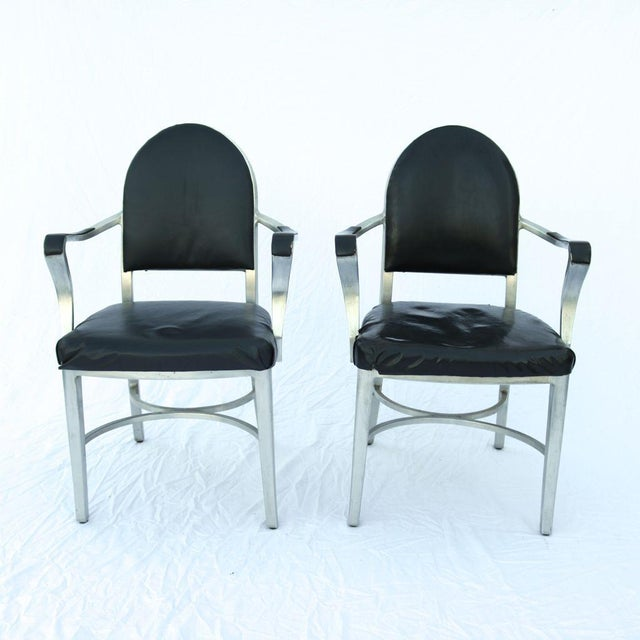 Image of General Fireproofing Co. Cruise Ship Chairs - Pair