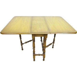 Vintage Gate Leg Drop Leaf Table