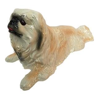 Life Size Ceramic Pekingese Dog Figurine