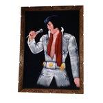 Image of 1995 Vintage Large Framed Velvet Elvis Painting