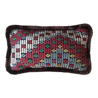 Vintage Turkish Cicem Wool Pillow