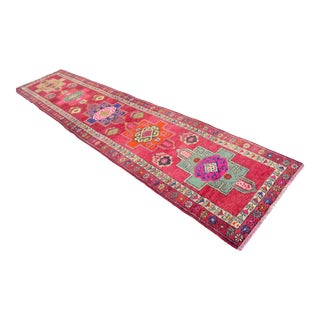 Kurdish Hand Knotted Runner Rug - 3′ 1″ × 13′11″