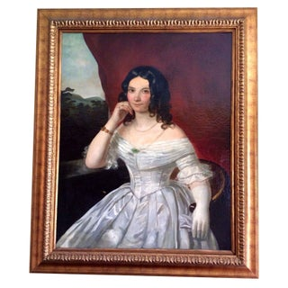 Antique Oil Painting Portrait of a Lady