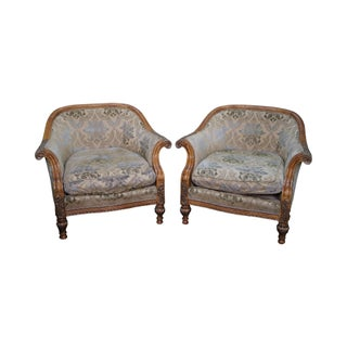 Century Furniture Baroque Style Club Chairs