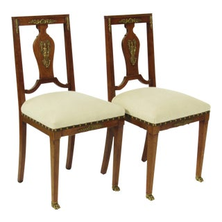 French Empire-Style Side Chairs - A Pair