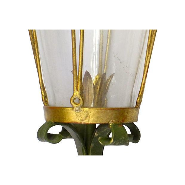 Image of Italian Painted Tole Sconce - A Pair