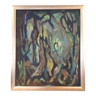 MId-Century Don Fink Abstract Painting Framed