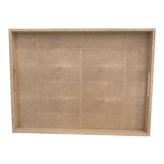 Large Shagreen Cream Colored Tray