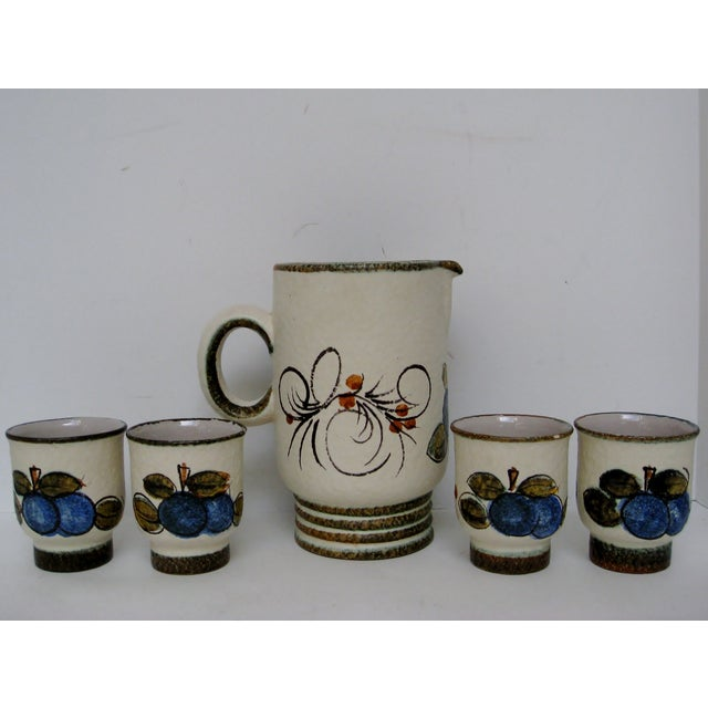 Vintage Hand Painted Italian Pitcher & Cup Set - Image 6 of 7
