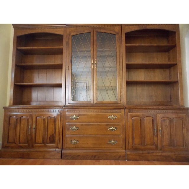 Ethan Allen Wall Unit Bookcase Chairish