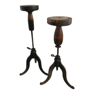 Antique Sculptors Stands - A Pair
