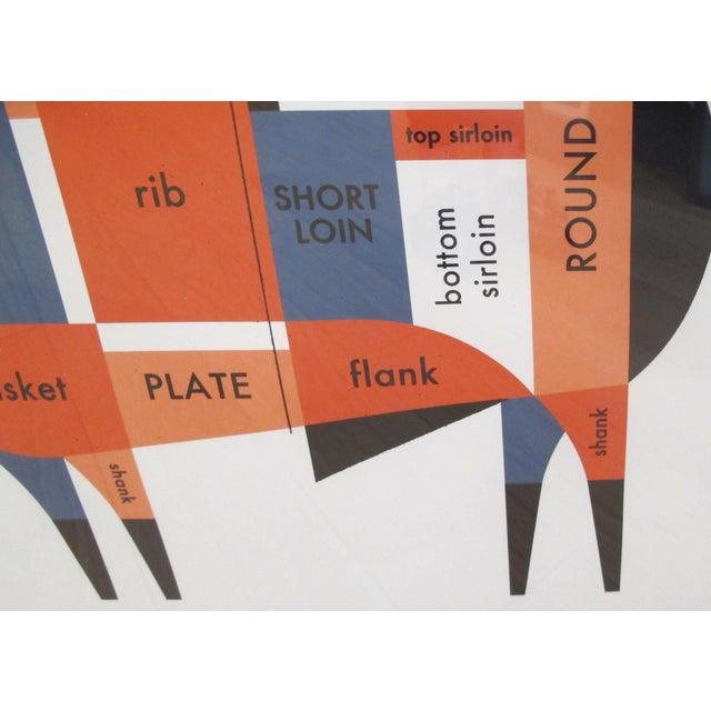 2011 Original Raymond Biesinger Geometric Meat Cut Butcher Chart (Framed) - Image 2 of 3