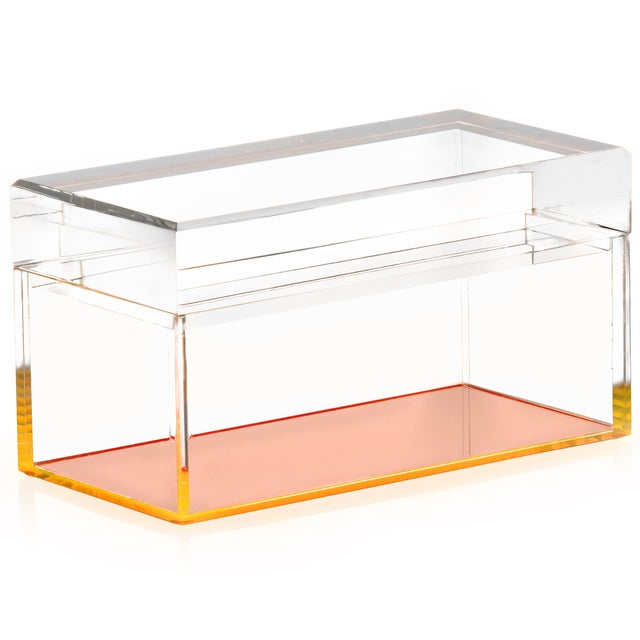 Alexandra Von Furstenberg Orange Lucite Box - Image 1 of 2