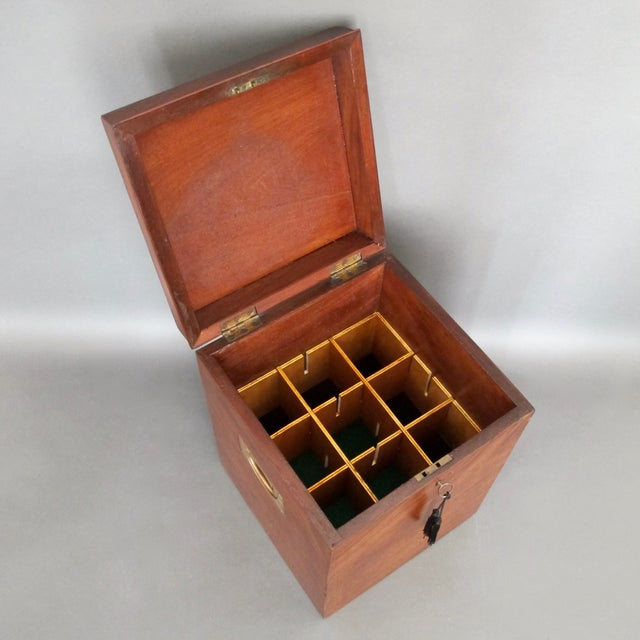 Antique English Mahogany Wine Box - Image 4 of 11