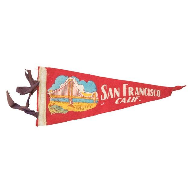 Vintage San Francisco Felt Flag Banner - Image 1 of 2