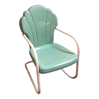 Retro 50's Clam Shell Aluminum Chair