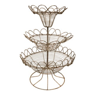 French Tiered Egg Basket