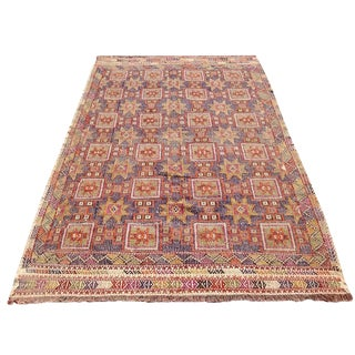Vintage Turkish Kilim Rug - 5′9″ × 9′3″