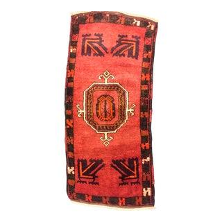Vintage Turkish Hand-Knotted Rug - 1′9″ × 3′10″
